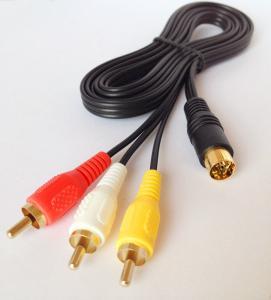 China Saturn AV Cable for SEGA MASTER SYSTEM MEGADRIVE TV / AV RCA CABLE/LEAD on sale