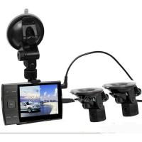 China AS3000A 1280*720P Car Video Recorder With 2 Reversing Rear View Cam 3.5 Inch LCD Record Real Time Road Conditions on sale