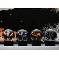 China Ball Shape Crystal Decoration Crafts Designed With Four Seasons Tree on sale