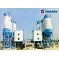 Cheap Stable Stationary Concrete Batching Plant Ready Mix 100mm Max Aggregate Diameter for sale