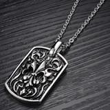 Stainless steel necklace with pendant-N03
