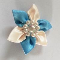 Best Multi Style Satin Ribbon Flowers Garment Craft Handmade Flowers For Women Clothes Decoration wholesale