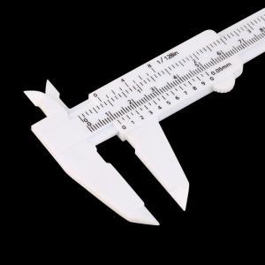 Best Precision Eyebrow Shaping Tools Plastic Measuring Vernier Slide Caliper wholesale
