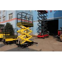 China Yellow Mobile Scissor Lift Table Battery Operated Scissor Lift Lifting Max Height 16m on sale
