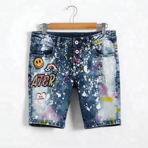 Best Adjustable Waist Bermuda Short Jeans Pant For Girl , Knee Length Denim Shorts wholesale