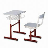 China School Chair with Powder Coating, Height Adjustable Size, Made of Steel Frame on sale