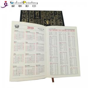 Best Hardcover Weekly Monthly Diary Custom Planner Printing High Gloss UV Varnish wholesale