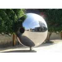 China Polished Outdoor Metal Sculpture Stainless Steel Decorative Balls For Yard Decoration on sale
