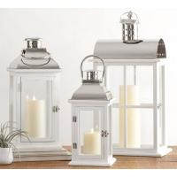 China Candleholders Small Dapper Stainless Steel Candle Lantern Indoor Outdoor Yard Patio Hanging metal Tabletop Lanterns on sale