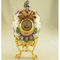 Cheap Faberge Egg with Clock for sale