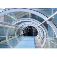 China Green House Tempered / Laminated Safety Glass , Curved  Sheet Glass Panels on sale