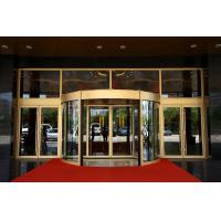 Best Luxurious building entrance Automatic curved sliding door Of Aluminium / steel frame wholesale