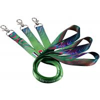 China Single Custom Cotton Lanyards Floating Carabiner Mixed Blue Colors 125mm Length on sale
