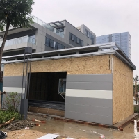 China Garage parking lot Double Layer Windows 10m2 Light Steel framing house Prefabricated Modular Toilets on sale