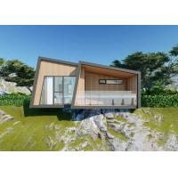 China Gray Wood Luxury Prefab House Kits / Duplex Modular Homes With Bathroom on sale