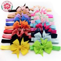 China Girl Hair Bow Headband DIY Grosgrain Ribbon Bow Elastic Hair Bands For Newborn Infant Todd on sale