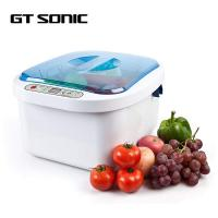 Best ABS SUS304 Ultrasonic Fruit And Vegetable Washer Sterilizer Ozone Cleaner 12.8L wholesale