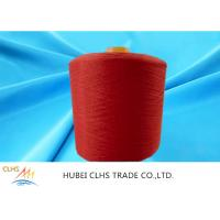 Cheap High Tenacity 100% Dyed Polyester Yarn Low Shrinkage Red For Sewing Thread for sale