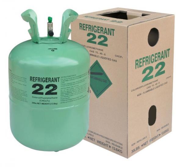 Cheap R22 refrigerant gas 99.9% purity, 30LB/50LB for sale