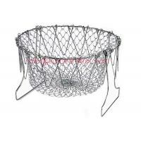 China Net Kitchen Cooking Tool Fry Basket Strainer For Fried Food Or Fruits on sale