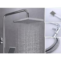 Best Home Square Bathtub Shower Faucet Sets 304 Stainless Steel Plated Thermostatic Mixing Valve wholesale