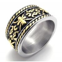Best Tagor Jewelry Super Fashion 316L Stainless Steel Casting Rings Collection PXR003 wholesale