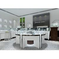 China Modern White Color Round Circle Jewellery Display Counter / Retail Display Cases on sale