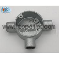 Cheap Aluminum / Malleable Iron BS4568 Conduit Three Way Junction Box Long Life Time for sale