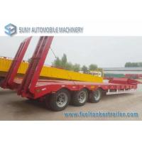 China Load Capacity 45 T 50 T 3 Axles semi truck trailer Lowbed Hydraulic Legs on sale