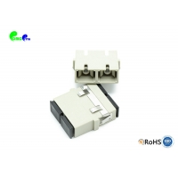 Buy cheap Multimode 5.9N TF SC Flangeless Fiber Optic Adapter PBT from wholesalers