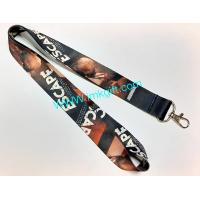 China Sublimation lanyard .Heat-transfer print . full logo print ,   Imprinted Polyester lanyard  in 3/4 and 1 on sale