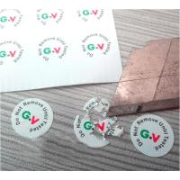 China High Brittle White Security Labels Stickers Strong Adhesive Difficult Remove For Screw on sale
