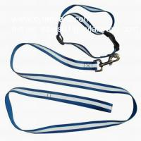 China Dye sublimation polyester lanyard dog collar and dog leash set, on sale