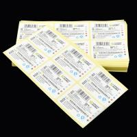 Cheap Custom Tear Resistant  Adhesive Vinyl Sticker for Stationery with Barcode Printed for sale