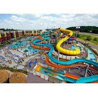 China Water Play Equipment Fiberglass Water Slide , Commercial Pool Water Slide on sale
