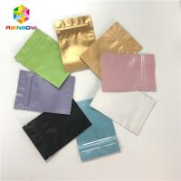 China Full Color Aluminum Foil Pouch Packaging Ziplock Flat 3 Side Sealed Bags on sale