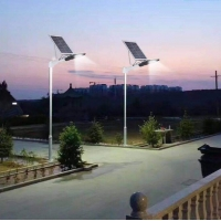 China 100LM/W 150W Solar Power Street Light with Optical tempered glass lens on sale