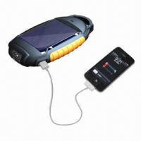 Best Solar Flashlight with LED Flashlight, SOS Signal Light and Power Charger wholesale