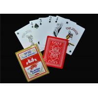 Best UV Coating Embossing Casino Quality Poker Cards / Casino Club Cards wholesale