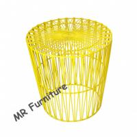 Best Arrow Design Wire Bedside Table , Colorful Powder Coating Metal Wire End Table wholesale