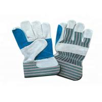 Best Heavy Duty Leather Safety Gloves Stripe Cotton Fabric Material CE Approved wholesale