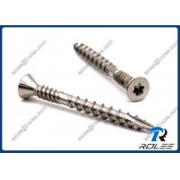 China Marine Grade 316 Stainless Steel Torx Double Thread Composite Deck Screws on sale