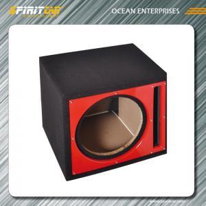 Best Carpet vented 15 Car Speaker Enclosures , black / grey single subwoofer box wholesale
