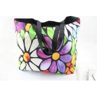 China Flowers Soft Foldable Tote Women's Shopping Bag Shoulder Bag Lady Handbag Pouch on sale