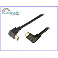 China 3D 2k 4k 90 degree pure tinned copper conductor Mini HDMI cables v 1.4 on sale