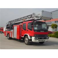 China Hydraulic System Fire Rescue Ladder Truck , Speed Ratio 1.15 Hook And Ladder Fire Truck on sale