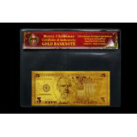 China Gifts and Crafts Fake Currancy Paper Money United States Dollar 5 With Chrismas Coa Frame on sale