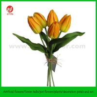 """China 14"""" PU Real Touch Artificial Tulip Bouquet X 5 on sale"""