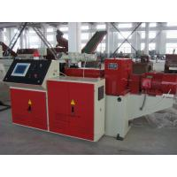 Best PLC Control Conical Double Screw Extruder For PVC Pipe / Profile wholesale