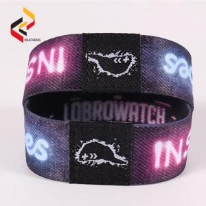 Best RFID Elastic Stretch bracelet QR code printed RFID stretch wristband wholesale